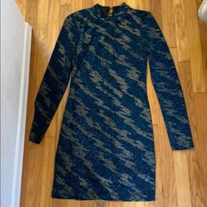 Lightning bolt sequin Topshop dress